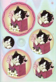 Mis Laminas para Decoupage | Aprender manualidades es facilisimo.com Little Girl Crafts, Christmas Sheets, Diy And Crafts, Paper Crafts, Art Carte, Decoupage Printables, 3d Sheets, Image 3d, Dibujos Cute