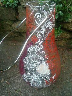 Hand painted lanterns £13.50