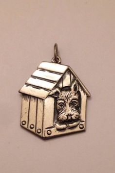 Sterling Silver Beau Pooch In The Dog House Charm