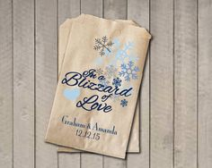 Winter Wedding Favor Bags Snowflake Personalized Candy Buffet In A Blizzard Of Love