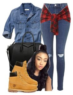 """""""Untitled #335"""" by princess-miyah ❤ liked on Polyvore featuring Abercrombie & Fitch, Givenchy, Topshop and Timberland"""