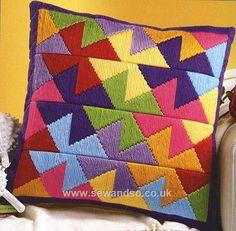Buy Pinwheel Long Stitch Cushion Front online at sewandso.co.uk