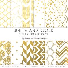 Hey, I found this really awesome Etsy listing at https://www.etsy.com/listing/196514750/white-gold-digital-scrapbooking-paper