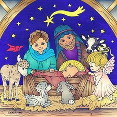 #christmas2016  #comeletusadorehim #jesus #nativity #colortherapyapp #colortherapyclub
