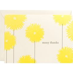 Cute and easy thank you card - would have even more impact embossed
