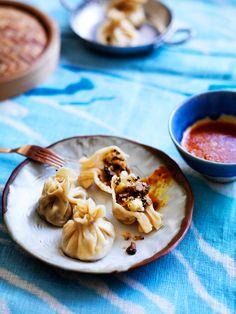 Tibetan Momos filled with Mushrooms, Potatoes, and Paneer | SBS Food