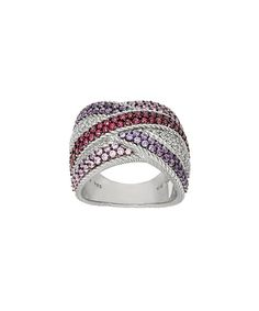 Look what I found on #zulily! Red Diamonique® & Sterling Silver Crossover Ring by Judith Ripka #zulilyfinds
