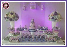 Mesa dulce de cumpleaños de buho