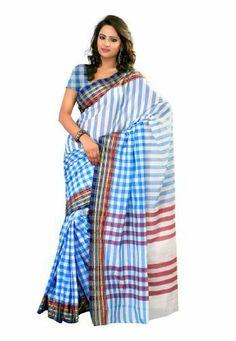 Fabdeal Indian Designer White & Blue Cotton Plain Saree Fabdeal Inc, http://www.amazon.fr/dp/B00IL76O4U/ref=cm_sw_r_pi_dp_Qfrotb0833A7N