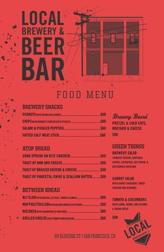 Amarcord Beer Menu Pureconcepts Design Studio HttpWww