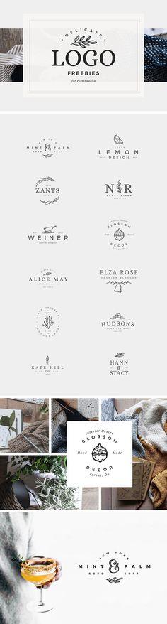 12 Delicate Feminine Logos