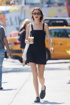 The little black dress might not be an obvious summer staple, but the right silhouette (like Chung's mod-inclined mini) will fit right in to your seasonal rotation.  #refinery29 http://www.refinery29.com/2016/07/117636/alexa-chung-style-best-outfits#slide-1