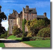 Brodick Castle in Scotland has kept up a tradition that has seen a fortification of some description in place since the 5th century. It was originally constructed between 1220 and 1240 by the Stewarts