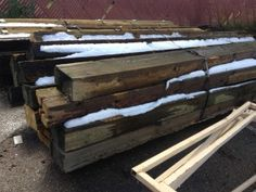 """6"""" x 10"""" timbers for kitchen island piers"""