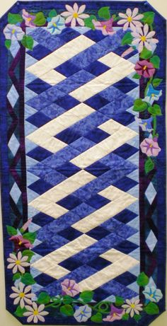 Morning Glory and Aster Table Runner Pattern
