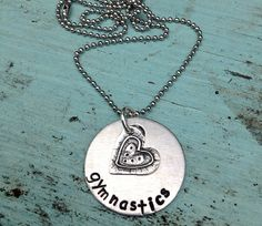 Perfect Gift Hand Stamped Gymnastics Necklace with by sosobellatoo, $24.00