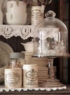 . . . Cabin & Cottage : Refuge In White~~~Love these jars.  I am hooked on collecting them~~~