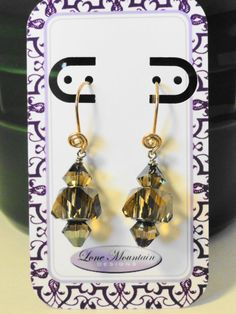 Large Hole Crystal Earrings by LoneMountainDesigns on Etsy