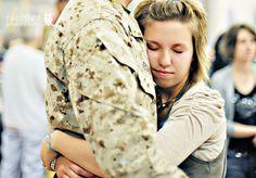 A hug of relief.
