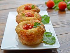 briose-cu-cascaval-si-sunca10 Mozzarella, Baked Potato, Potatoes, Baking, Ethnic Recipes, Food, Bread Making, Meal, Patisserie