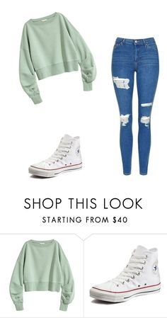 """Untitled #91"" by keira1812 ❤ liked on Polyvore featuring Converse and Topshop"