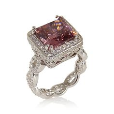 I've seen this on my friend and it's beautiful! Victoria Wieck 6.99ct Absolute™ Pink Braided Ring