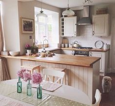 Shabby modern chic kitchen
