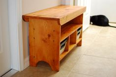 Entry Way Bench with Compartments