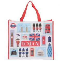 Need a handy, durable and lightweight shopping bag that is practical, strong and looks great?! Then look no further than our woven shopping bag range. Made from strong polypropylene, our range of laminated shopping bags are light weight and easily foldup to fit in a pocket, but because they are woven, they are really strong so you can use them everyday. They are a great gift with a huge range of designs to suit all tastes. Height 33cm Width 40cm Depth 17cm (approx 13 x 16 x 7 inches) Reusable Shopping Bags, Reusable Tote Bags, London Icons, British Bulldog, Union Jack, Folded Up, E Bay, Travel Bags, Great Gifts