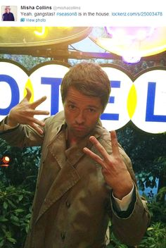 Okay.  This is one of my favorite people  in the entire world.  Seriously.    Misha Collins, people.