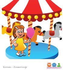 Pretpark Onderdeel van de serie Zonneroosje. Peuterplanbord, specialist in planborden en pictogrammen voor kinderen