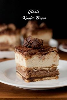 Kinder Bueno cake – Pastry World Polish Desserts, Polish Recipes, Fall Desserts, Sweet Recipes, Cake Recipes, Snack Recipes, Dessert Recipes, Food Cakes, Easy Smoothie Recipes