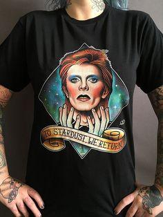 David Bowie Traditional Tattoo Art T-shirt