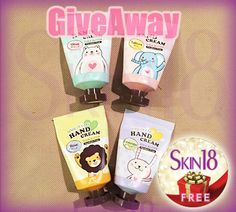 Skin18 International Giveaway 4pcs SOC Shea Butter Hand Cream (Lavender, Olive, Sakura, Rose), Many Entries, Free Shipping Worldwide!! http://skin18.com/pages/giveawayf