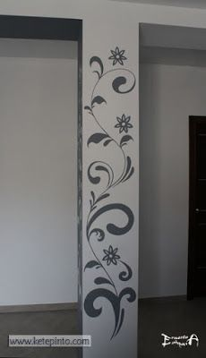 Stone Interior, Interior Design Living Room, Arte Bar, House Front Wall Design, Creative Wall Decor, Indian Home Interior, Wall Drawing, Stained Glass Designs, Deco Furniture