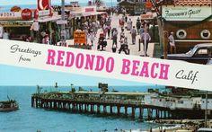 Redondo Beach postcard c 1950's.