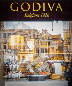 Home of Belgian chocolate label Godiva in Brussels