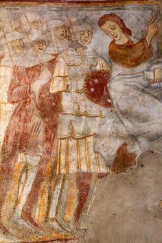 Chiesa di San Leonardo presso Borgomanero (NO). Affreschi di inizio XIII secolo (?) Early XIII century (?) frescoes
