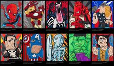 Picasso Inspired Superhero Art
