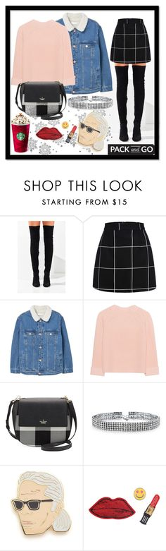 """""""winter"""" by levitskaya-dasha ❤ liked on Polyvore featuring Jeffrey Campbell, MANGO, iHeart, Kate Spade, Bling Jewelry, Georgia Perry and Decree"""