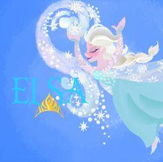 This is My drawing of Queen Elsa from Disney Frozen! It's baseb on Rapunzel's wall paintings Elsa Wall painting Arte Disney, Disney Fan Art, Disney Love, Disney Films, Disney Pixar, Disney Characters, Disney Princesses, Frozen Elsa And Anna, Disney Frozen