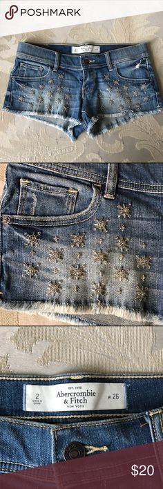 Abercrombie Fitch Embellished Shorts Like new Abercrombie & Fitch Shorts Jean Shorts