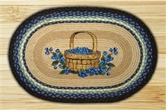 """Blueberry Basket"" Oval Braided Placemats"