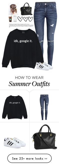 """School Outfit"" by laynie1026 on Polyvore featuring H&M and adidas"