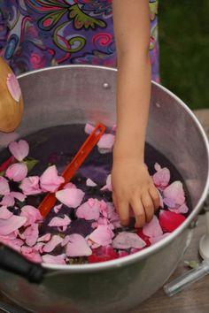 fairy soup - happy hooligans - outdoor sensory activities for kids #fairyforest