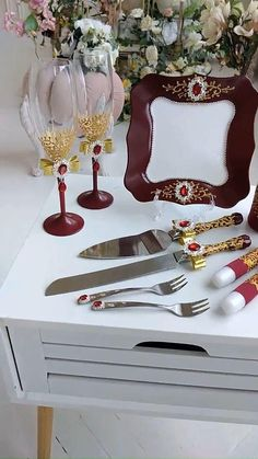 Burgundy And Gold, Burgundy Wedding, Wedding Ceiling Decorations, Red Wedding Dresses, Large Candles, Unity Candle, Wedding Glasses, Flower Girl Basket, Garter Set