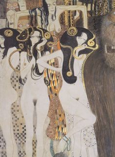 "Gustav Klimt (1862–1918), ""The Gorgons and Typhon"" (Detail), from Beethoven Frieze, 1902"