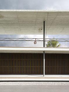 by joos & mathys architekten and patrik seiler architekten Plan Director, Garage Doors, Construction, Spaces, Outdoor Decor, Wall, Home Decor, Pools, Architecture
