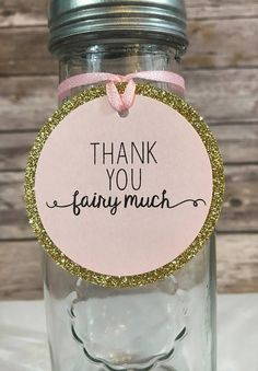 Items similar to 12 Fairy Birthday Party Favor Tags