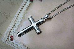 silver cross pendant. 925 silver sterling cross by KeyStoneJewels